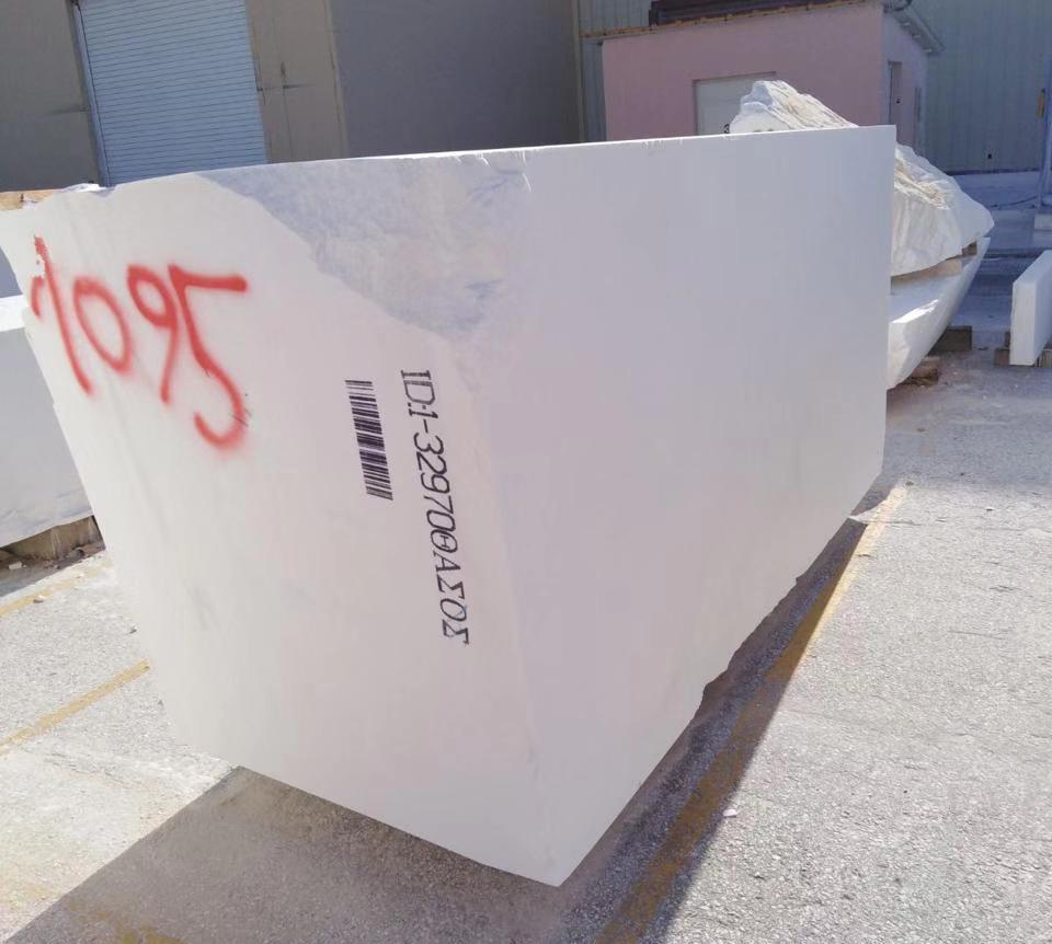 thassos white marble block 2