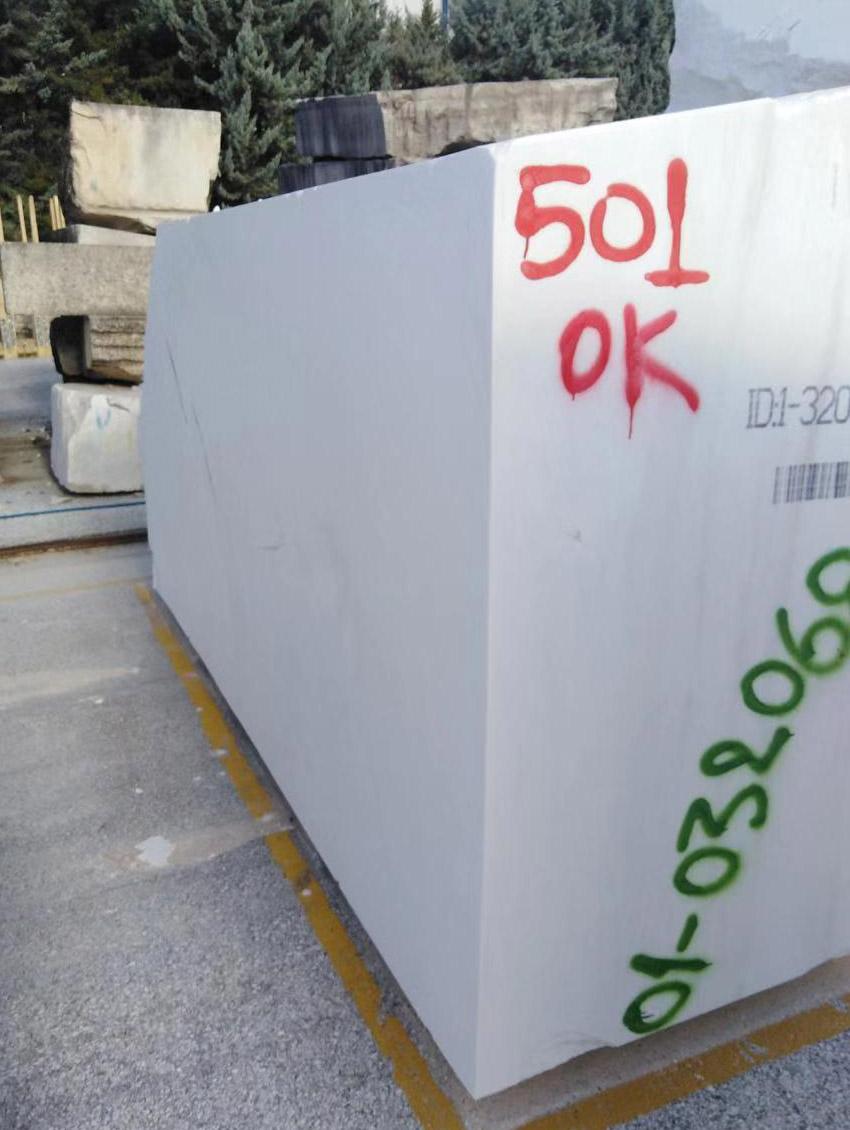 thassos white marble block 3