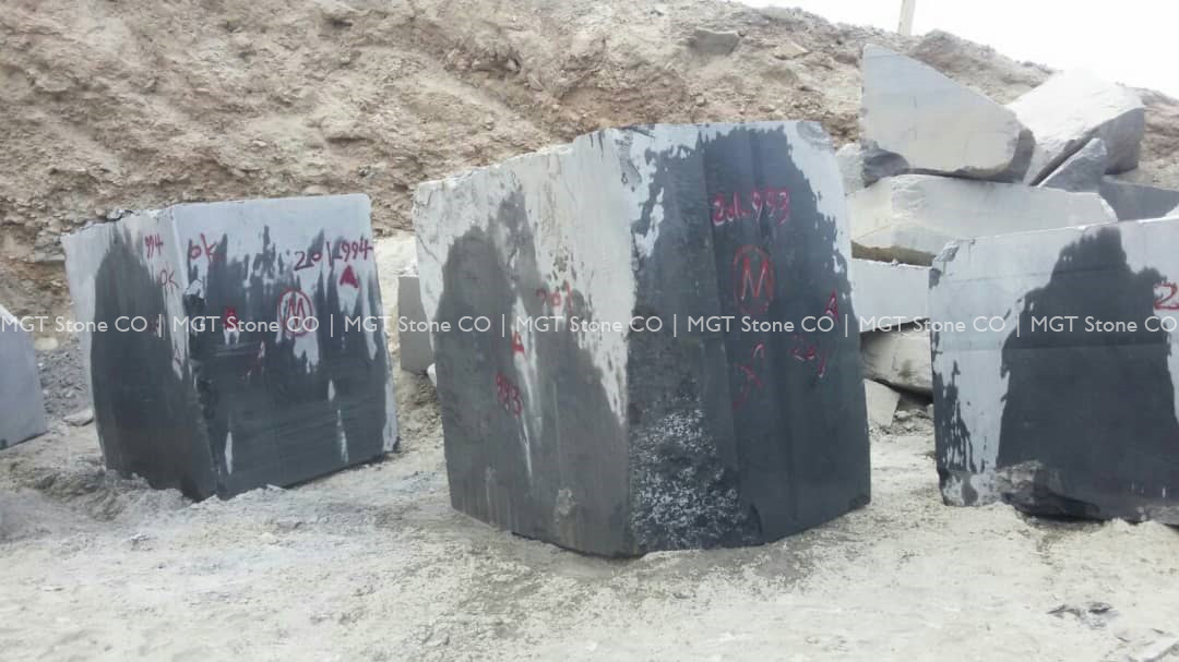 Tiger Black Granite Block