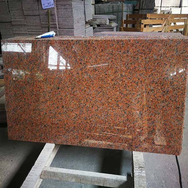 Maple red granite polished tiles