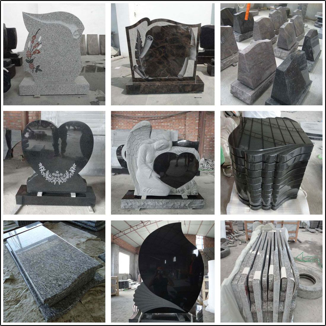 China Black Tombstone & Monument Grey Tombstone Granite Tombstone