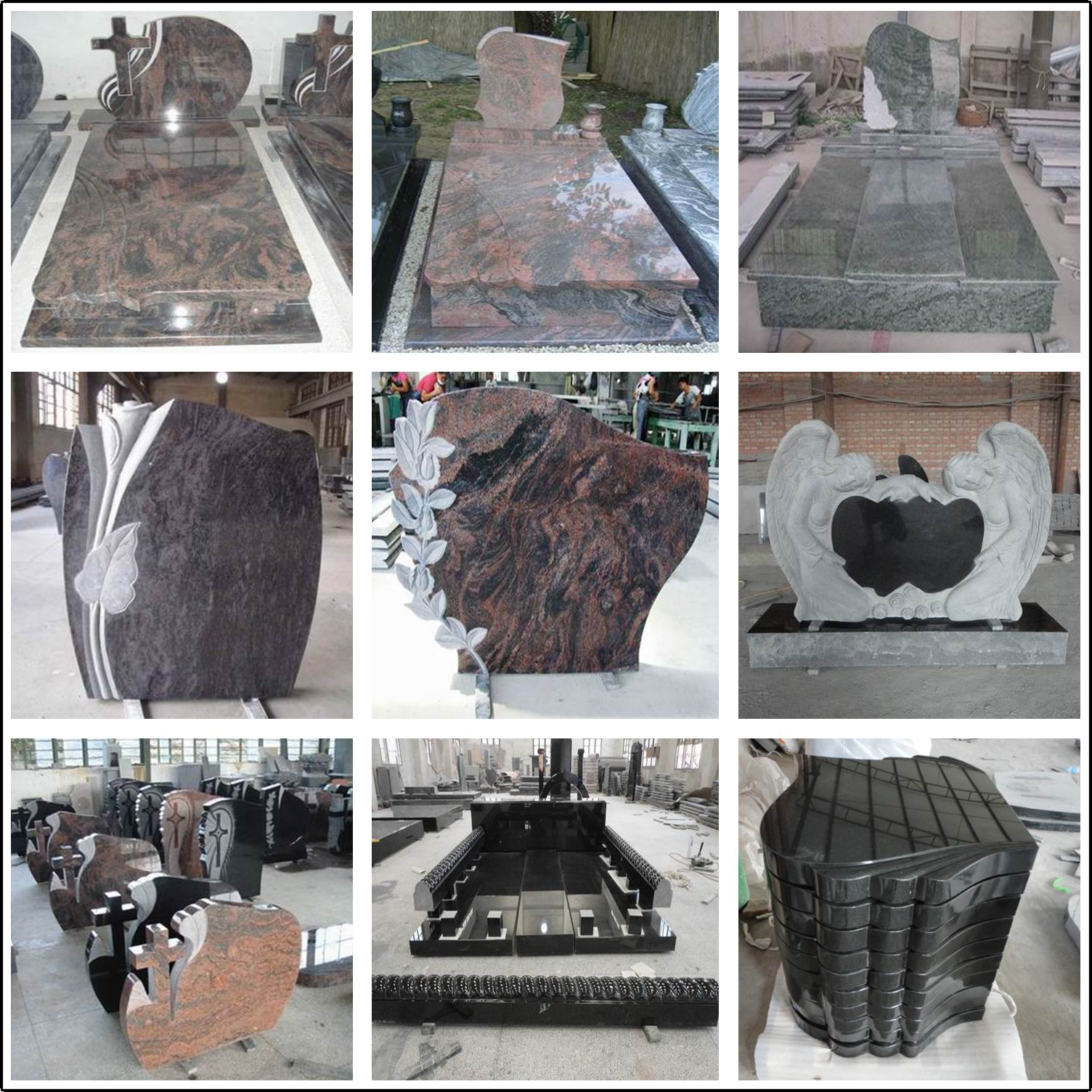 Granite tombstone in more styles