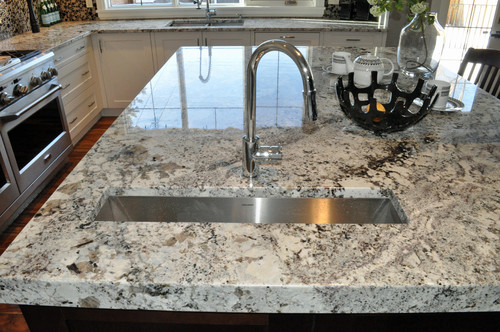 Alaska white granite Island Top