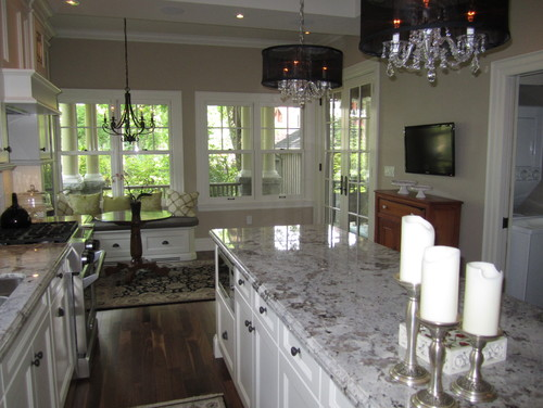 Alaska white granite island countertops