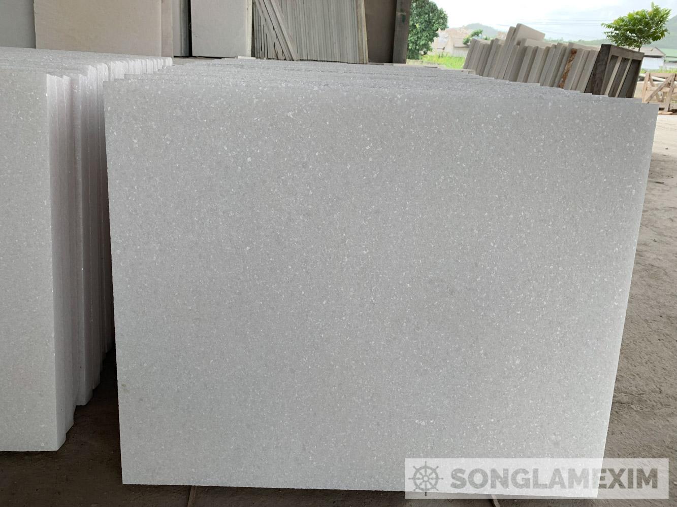 Sandblasted White Crystal Marble