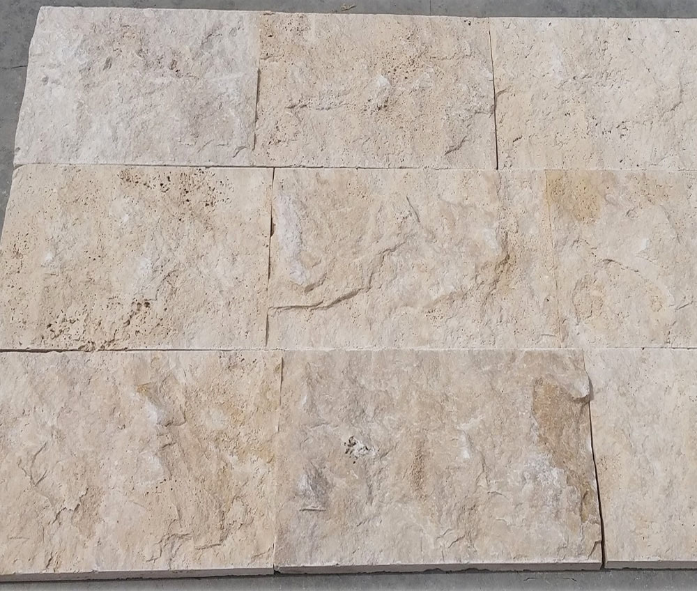 Travertine Split Face 30cm Free Length