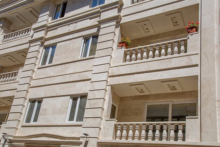 travertine facade stones a sample picture