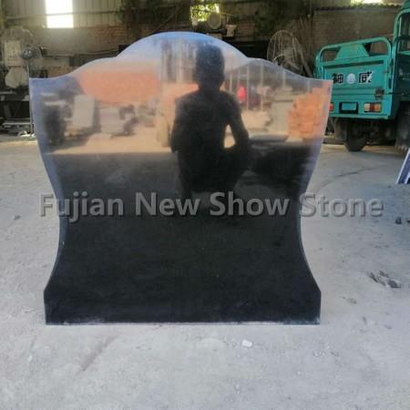 Tombstone black granite