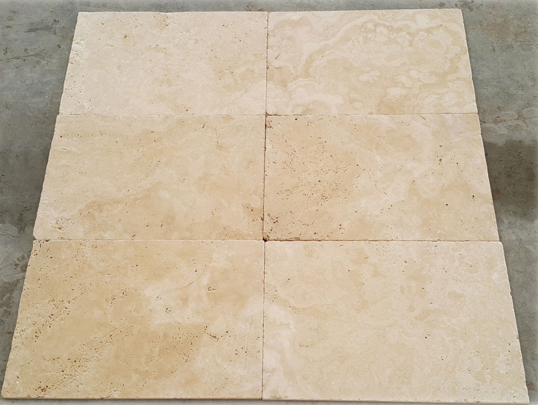 Extra Light Travertine Tumbled