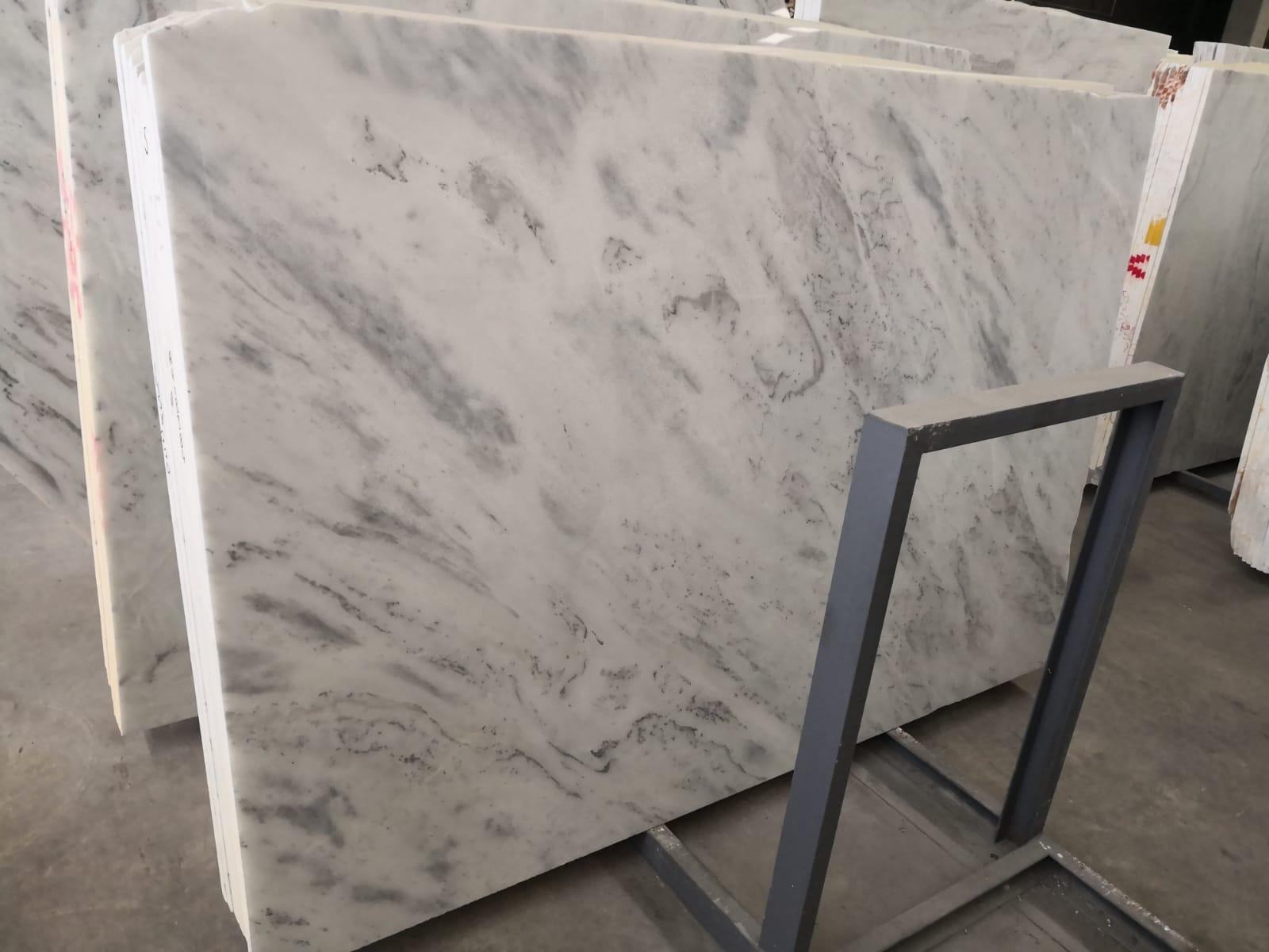 Uludag White Polished Marble Slabs