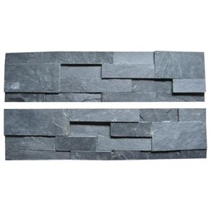 unilock black natural slate veneer for exterior and interior wall decoration