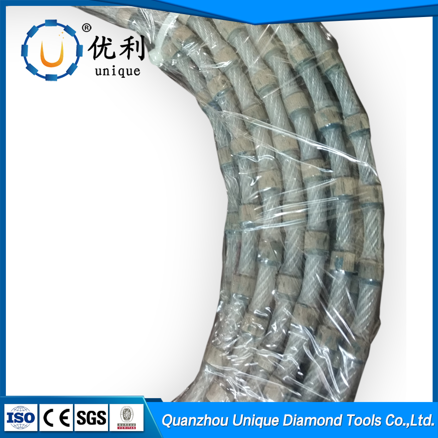 11.0mm diamond wire cutting rope saw for granite profiling trimming cutting