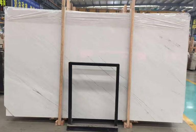 Sivec white marble slabs