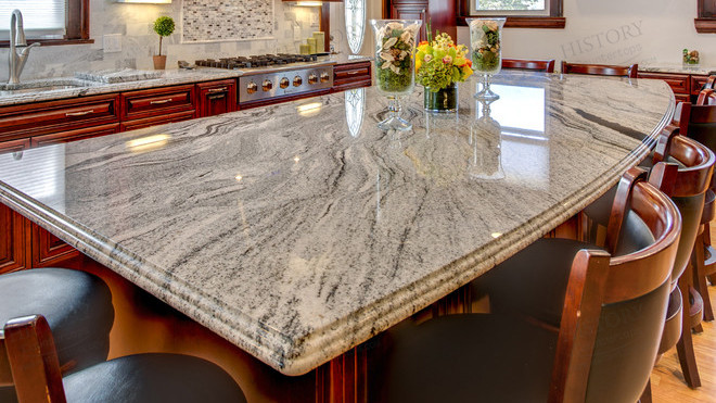 veined granite countertops