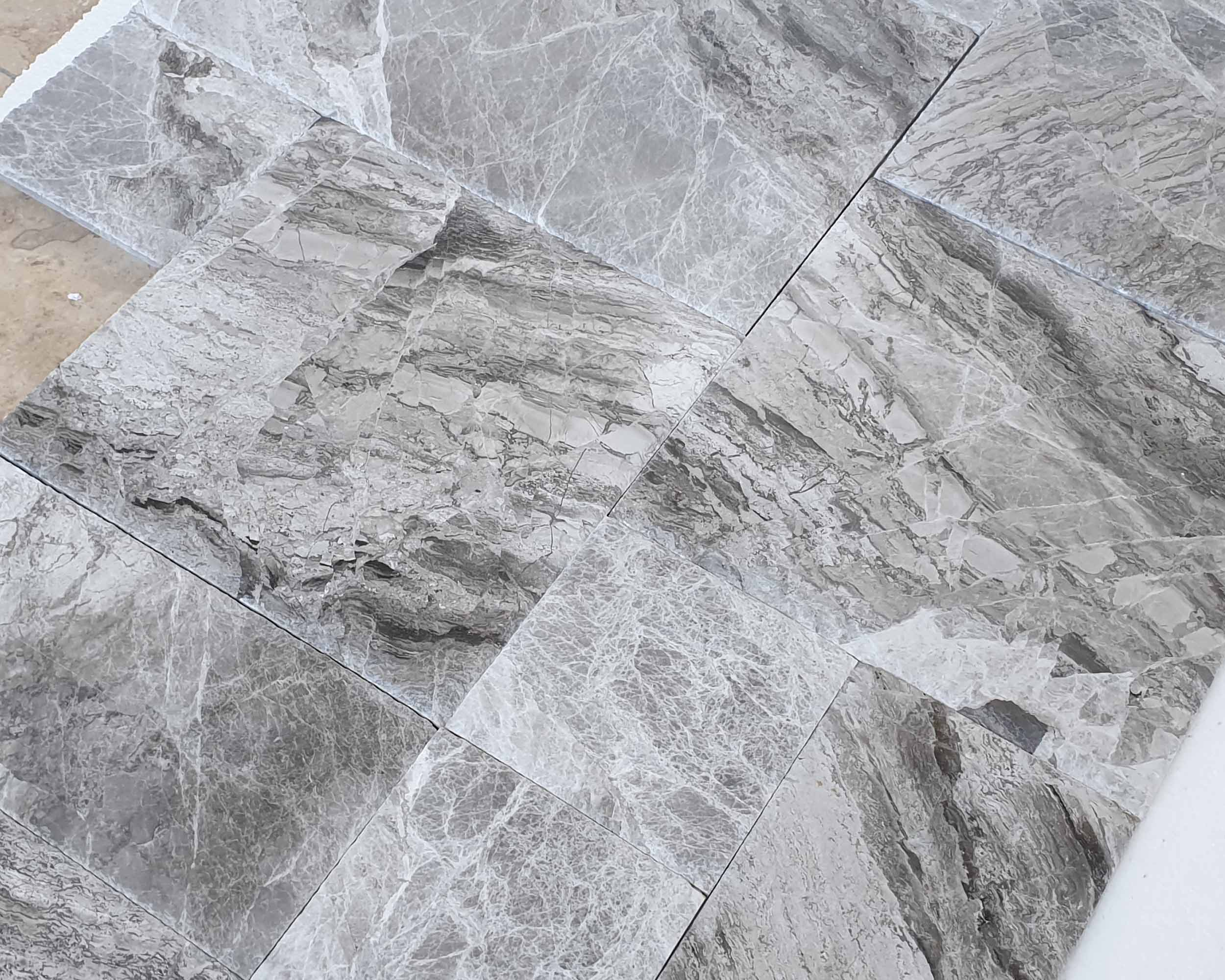 Victoria Grey Marble Pattern Set