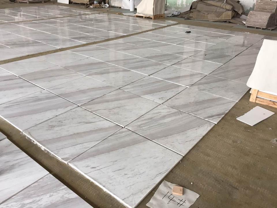 volakas white marble tiles 80x80cm