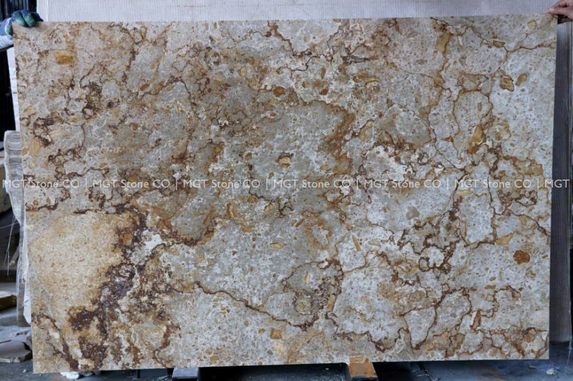 Walnut Travertine Slabs Crosscut