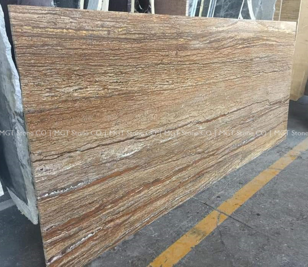 Walnut Travertine Slab Veincut