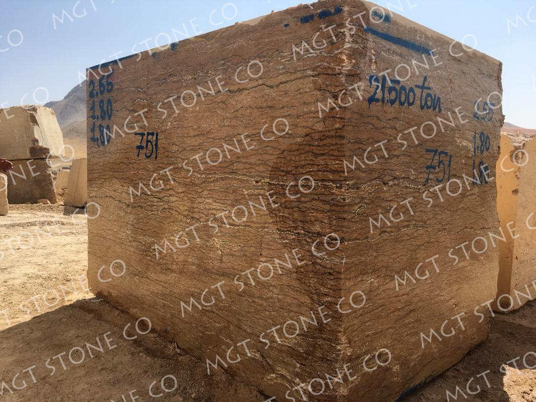 Walnut Travertine Natural Stone Blocks