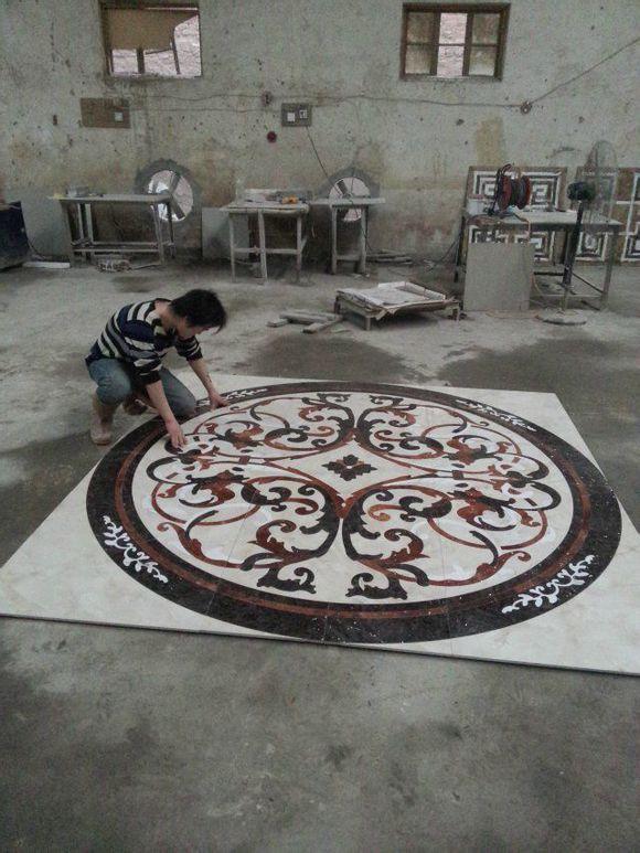 water_jet medallion flooring