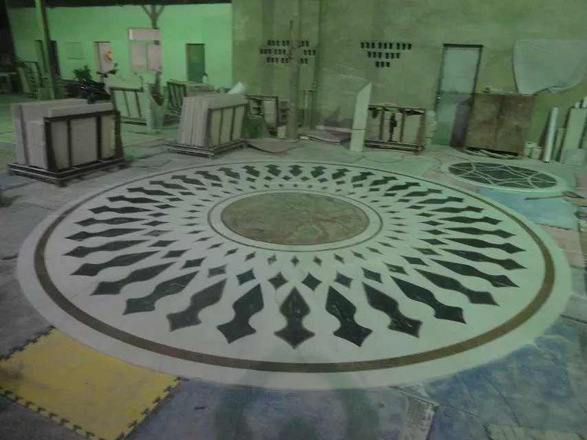 water_jet medallion flooringmarble inlay