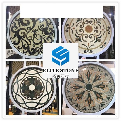 waterjet marble medallions
