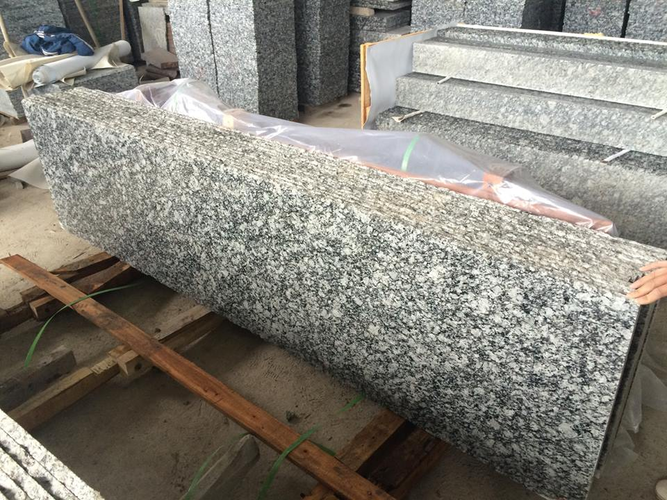 wave white surf white granite countertop slab