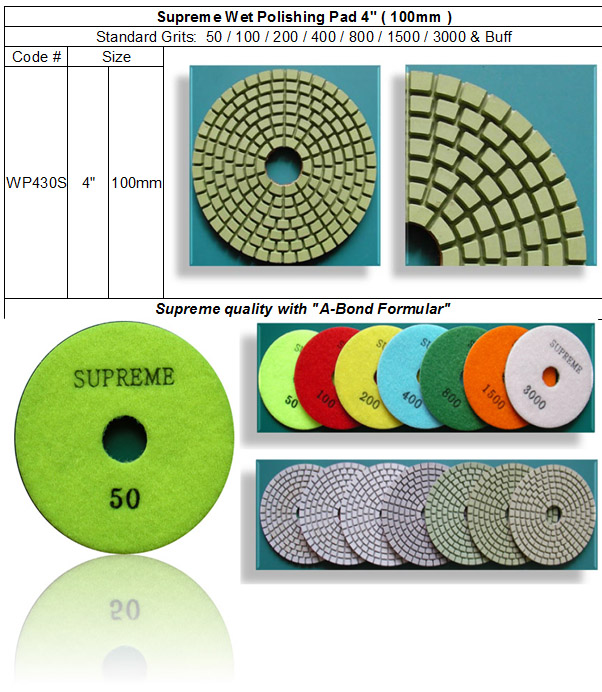 Wet Polishing Pad Supreme