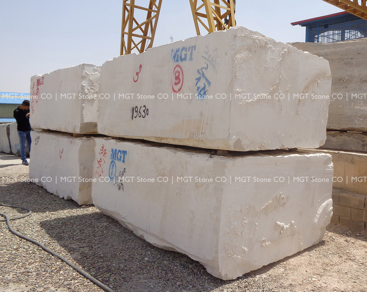 White Limestone Block