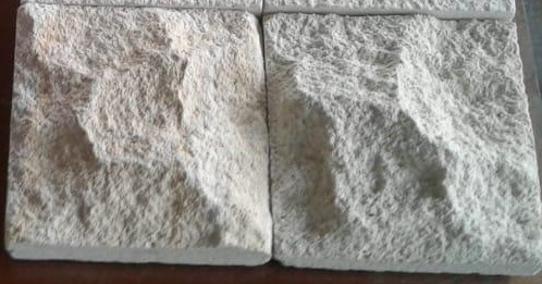 Bali White Limestone Rough Face Wall Panel