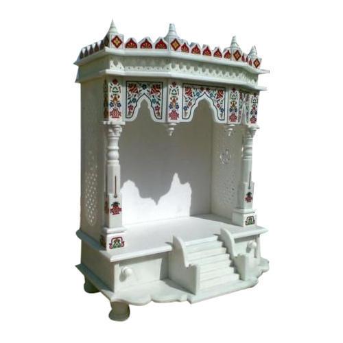White Makrana Marble Pooja Temple