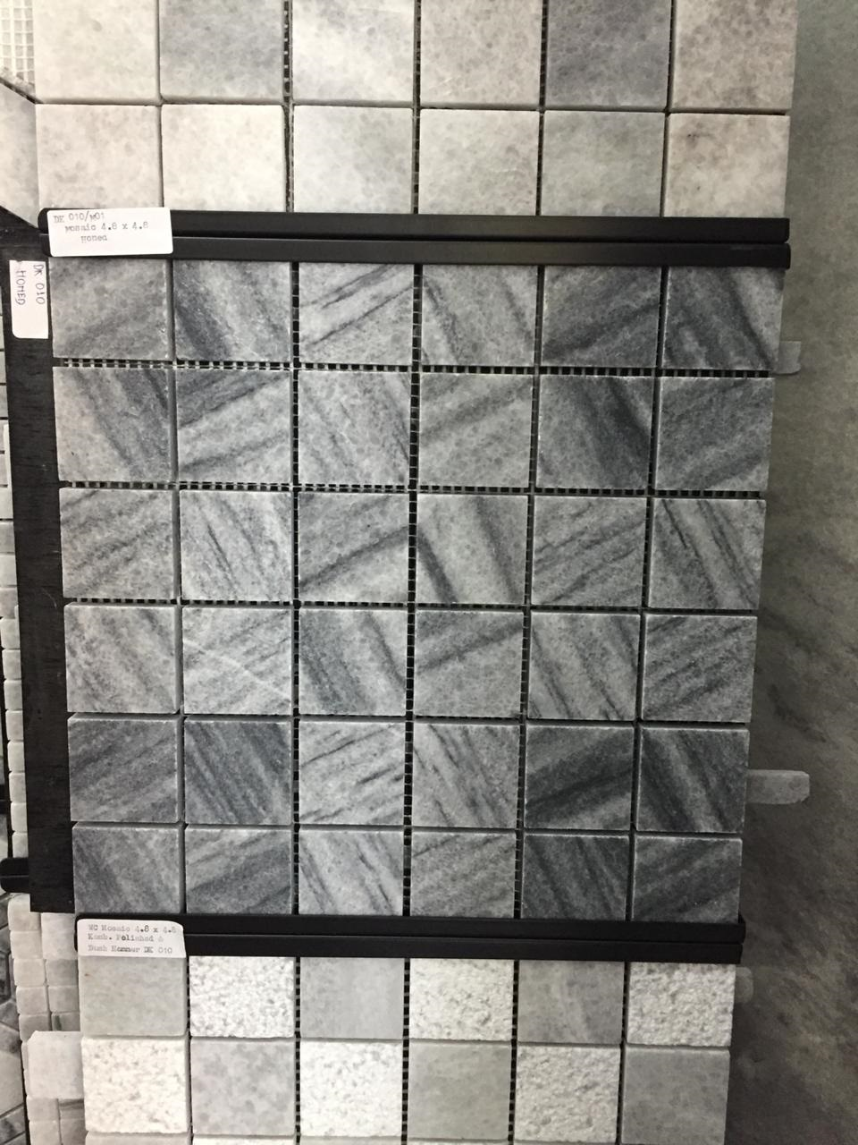Bali White Marble Square Pattern Mosaic Tile