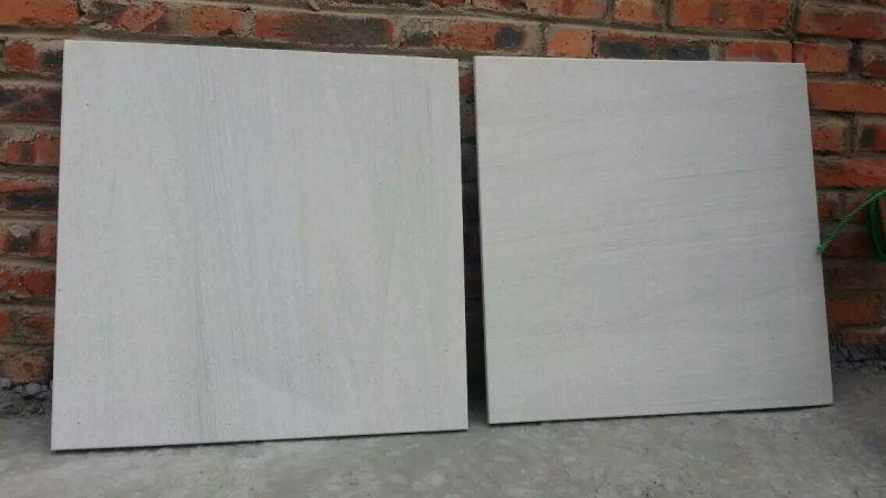 white sandstone tiles