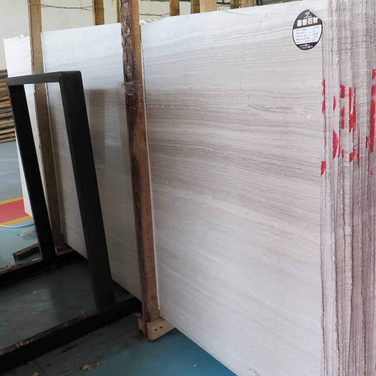 White wooden slab