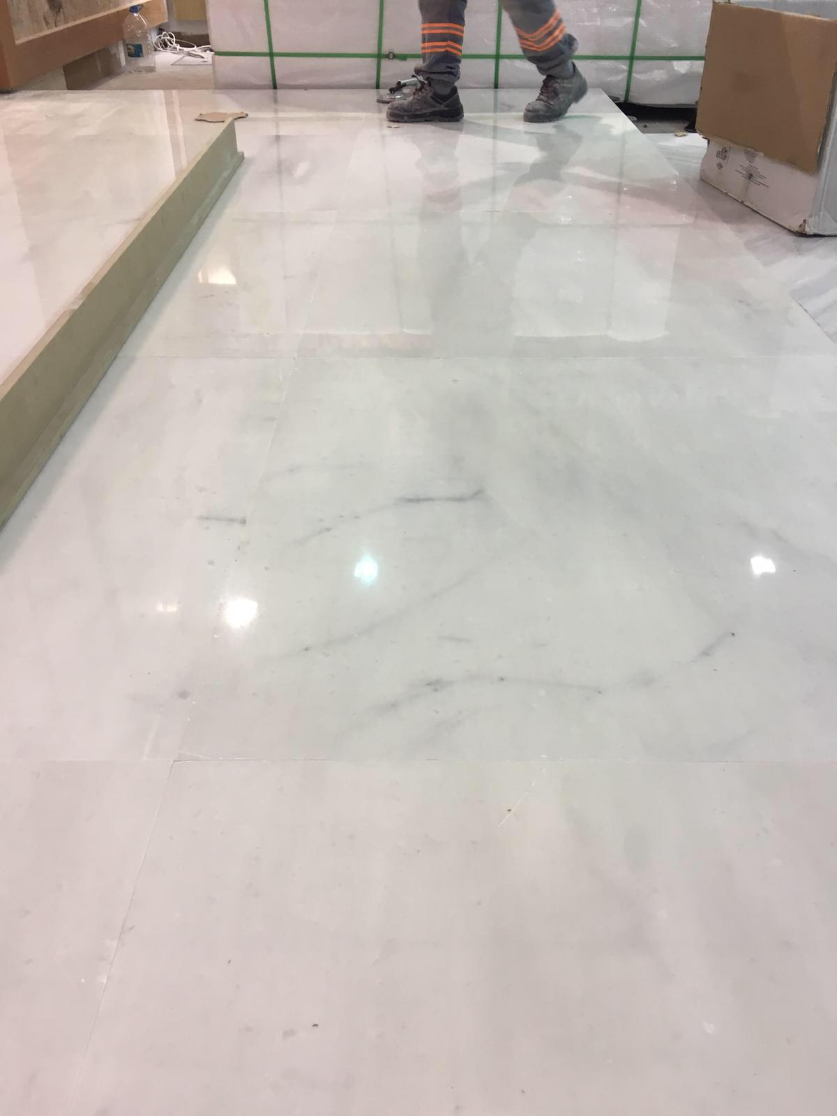 Zetta White Tile Polished White Marble Tiles