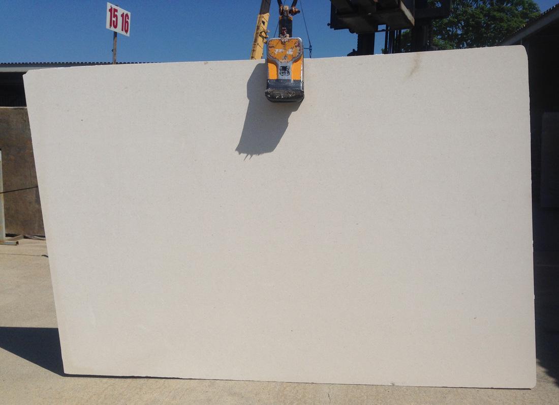 White limestone slab