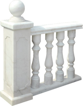White Marble Baluster  Marble Railing