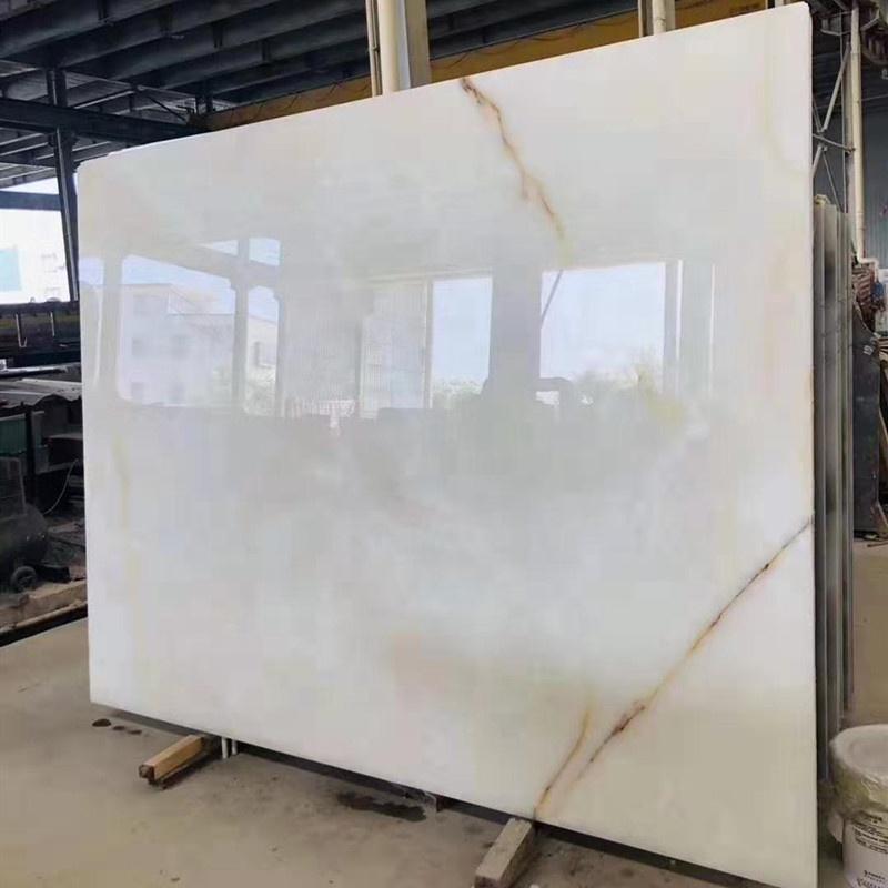White Marble With Golden Vein Slab