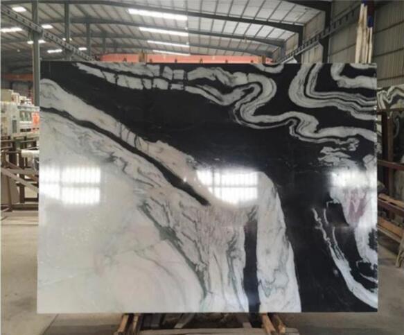 white panda marble slabs