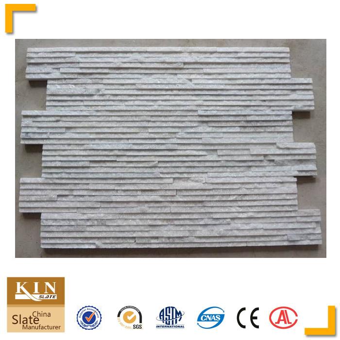 White quartzite waterrunning wall cladding