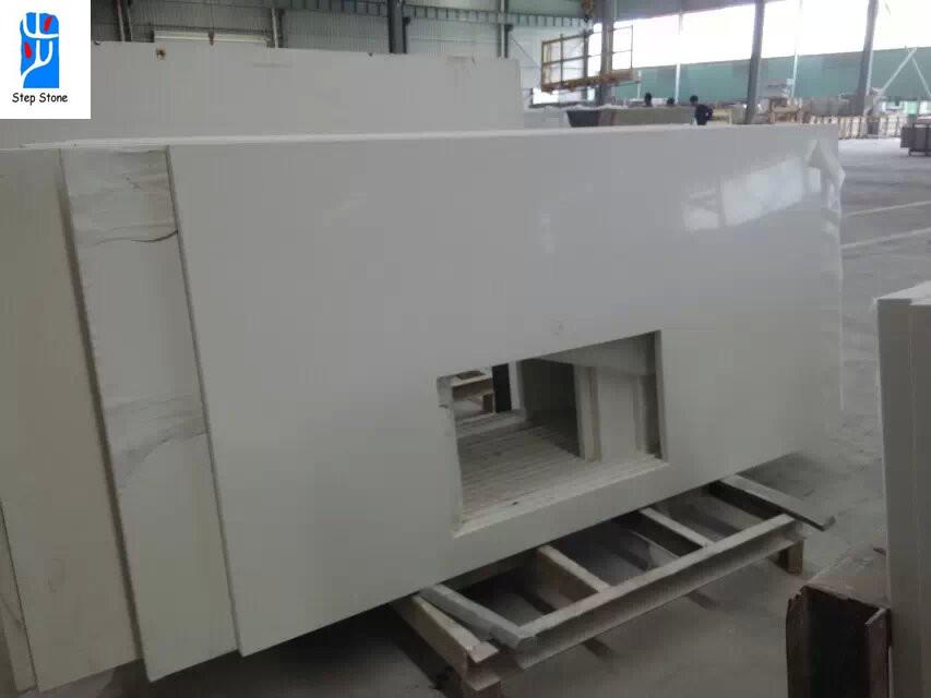 Factory prices white quartz countertops