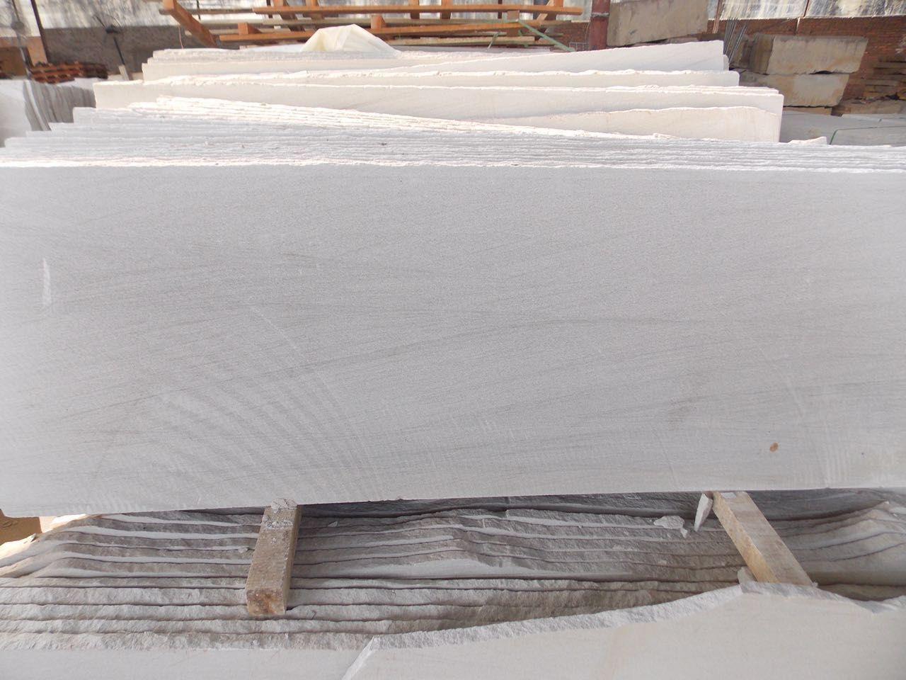 White sandstone slab