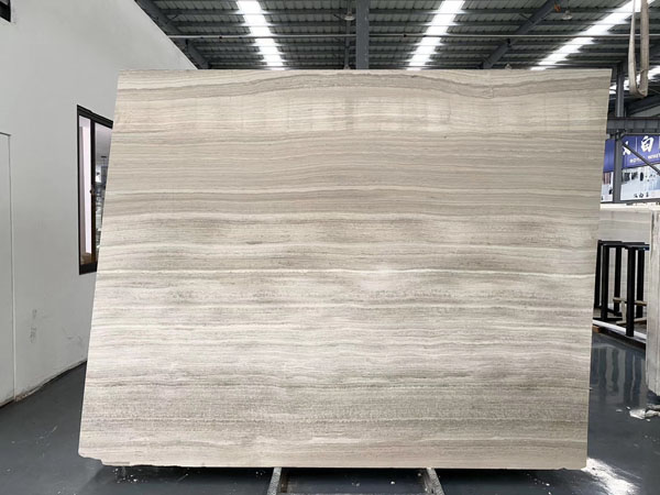 White Wood Grain Marble  Haisa Light Marble Slabs