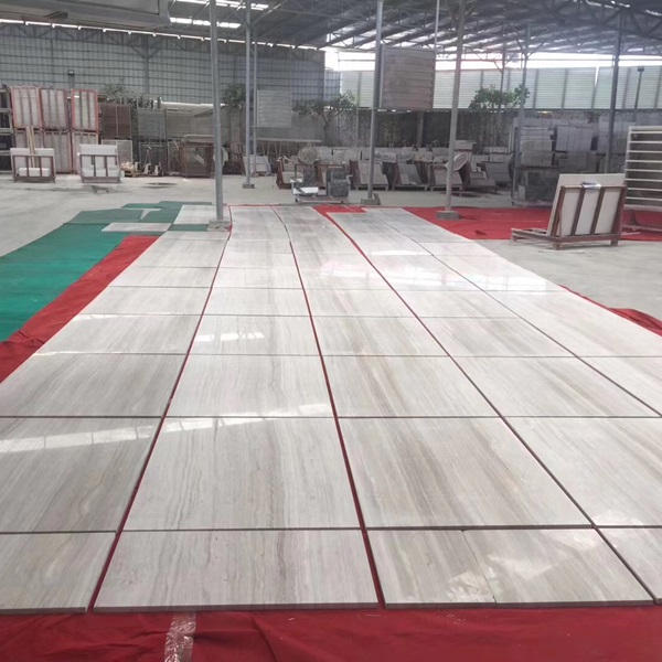 Polished Wihte Wooden Marble 60x60 Tiles