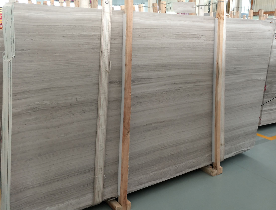 white wood vein marble slab