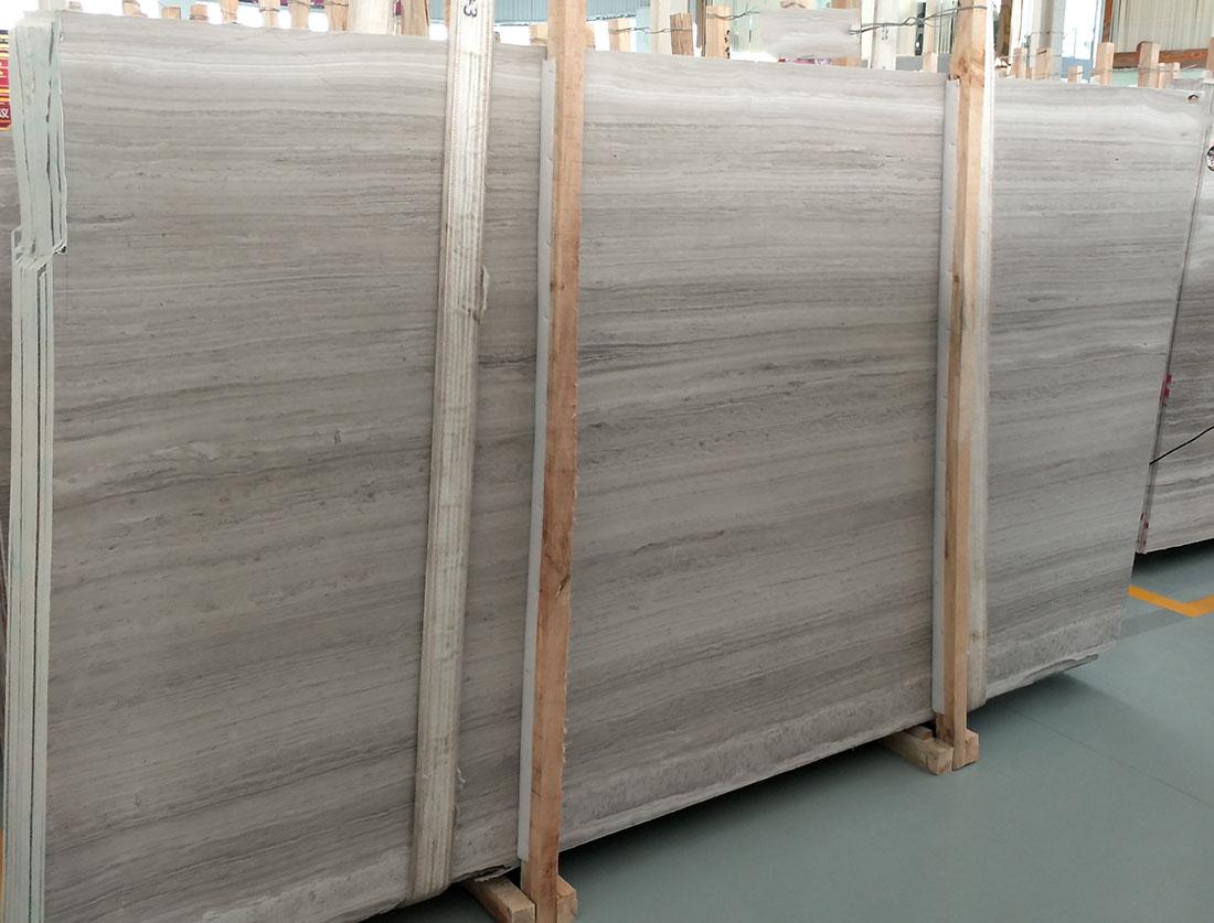 white wood vein marble slab