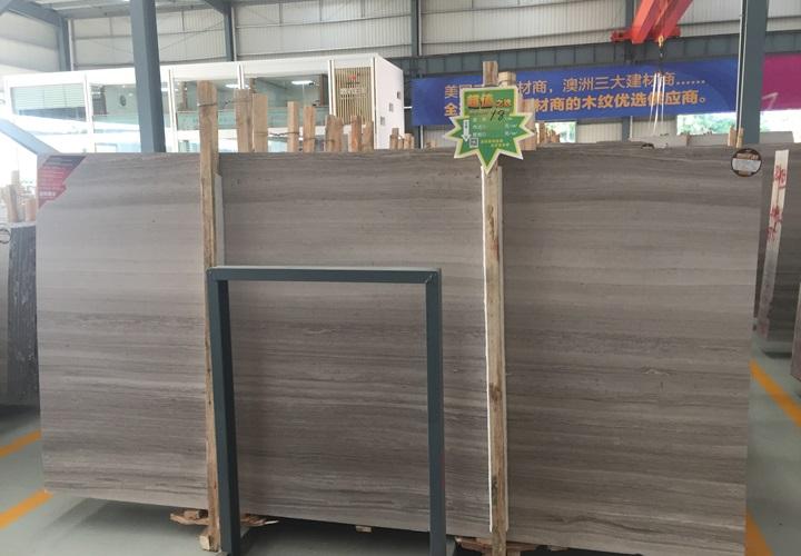 China Grey Wood Grain Marble Slabs