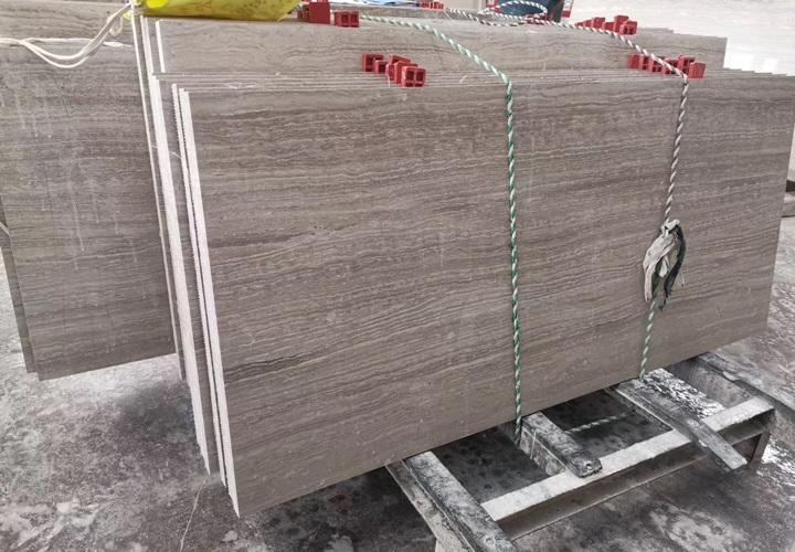 Polished Grey Wood Grain Marble Tiles