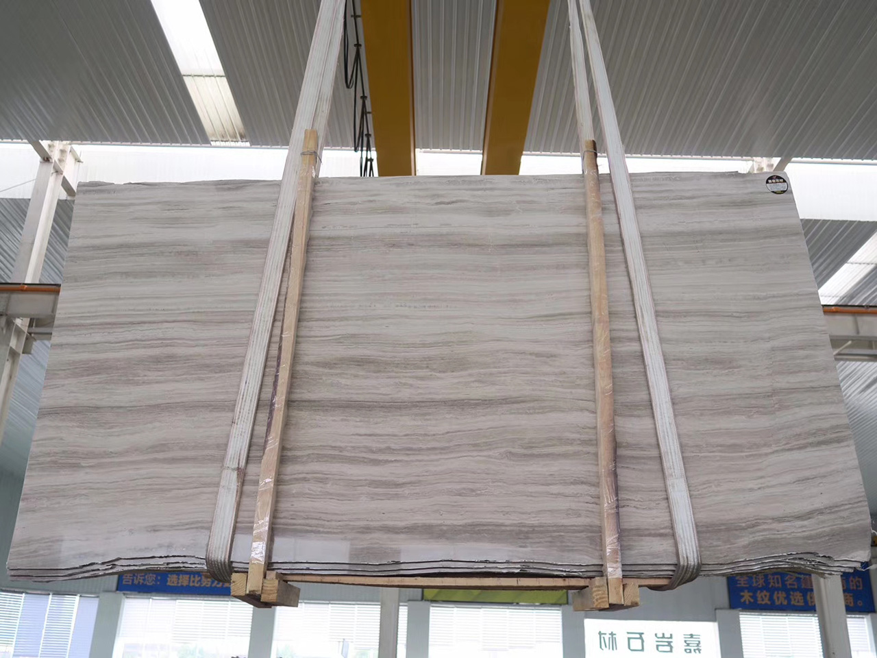 grey white wood vein marble slabs