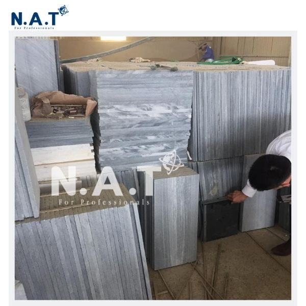 Striped Grey Marble